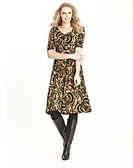 Print Buckle Trim Dress 41in
