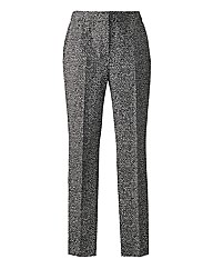 Printed Slim Leg Trousers Length 27in