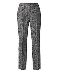 Printed Slim Leg Trousers Length 27in
