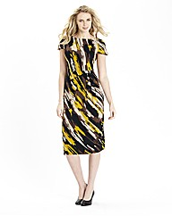 Print Gather Detail Jersey Dress 41in