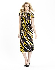 Print Gather Detail Jersey Dress 45in