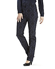Jacquard Slim Leg Trousers 27in