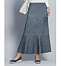Top to Toe Denim Maxi Skirt
