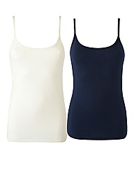 Pack of Two Jersey Vests 24in