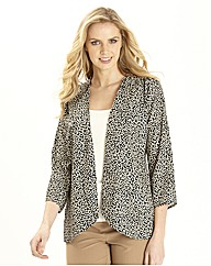 Print Soft Waterfall Jacket