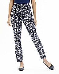 Printed Slim Leg Trousers 29in