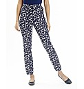 Petite Printed Slim Leg Trousers 25in