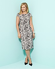 MAGISCULPT Print Dress 41in