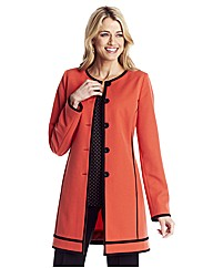 Colour Block Longline Jacket 29in