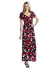 Print Jersey Maxi Dress 52in