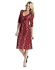 Print Jersey Dress 41in