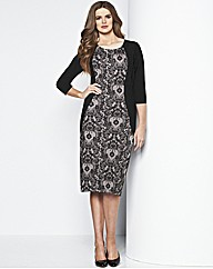 MAGISCULPT Print Panel Dress 41in