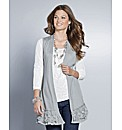 Top to Toe Lace Trim Sleeveless Cardigan