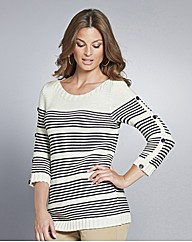 Petite Top to Toe Stripe Jumper