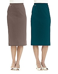 Pack of Two Skirts Length 27in