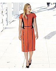 Petite Colour Block Tailored Dress 39in