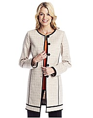 Colour Block Longline Jacket 31in