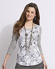 Top to Toe Printed Jersey Top