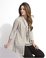Top to Toe Pointelle Sleeveless Cardigan