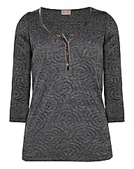 Top to Toe Textured Jersey Top