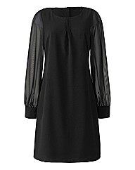 Sheer Sleeve Tunic Dress