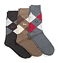 Mens Pringle Socks Pack of 3