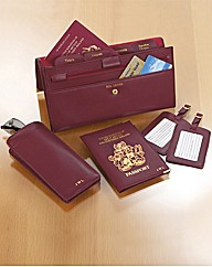 Leather Travel Five Piece Set