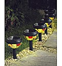 Mini Tiffany Solar Lights Pack of 6