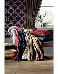 Damask Lined Curtains & Tiebacks
