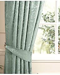 Damask Lined Curtains & Tiebacks
