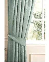Damask Line Curtains & Tiebacks