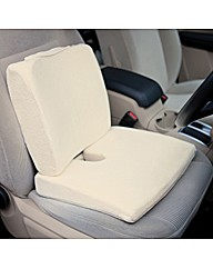 Memory Foam Travel Seat Pad Cream