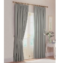 Lined Machine Washable Curtains&Tiebacks