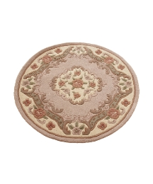 Shensi Wool Carved Rug Circular