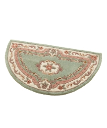 Shensi Wool Carved Rug Half Moon