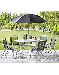Tropical 8 Piece Garden Furniture Set