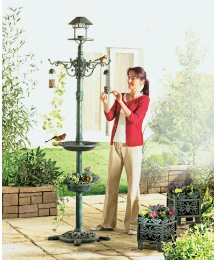 Solar Bird Feeder with 2 Free Planters