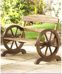Cartwheel Garden Bench