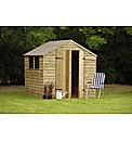 Wooden Overlap Shed 7 x 7