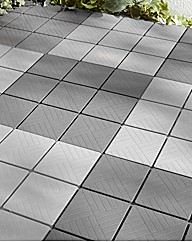 12 Pack of Grey Easy-to-Install Tiles