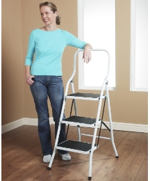 3 Step Safety Ladder with Handrail