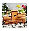 Wood Train Planter