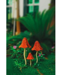 Set Of 3 Mushroom Windchimes
