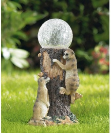 Meerkat Solar Ball Garden Light
