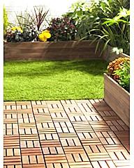 Easy-to-Install Hardwood Decking Tiles