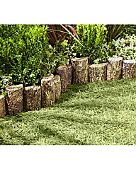 Log-Effect Garden Edging