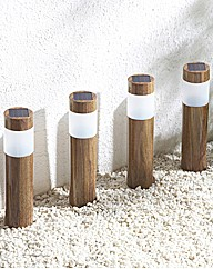 Pack of Four Oak Post Lights