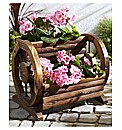 Wooden Cartwheel Planter
