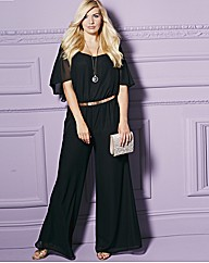 Cape Sleeve Jumpsuit