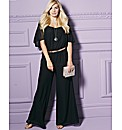 Petite Cape Sleeve Jumpsuit